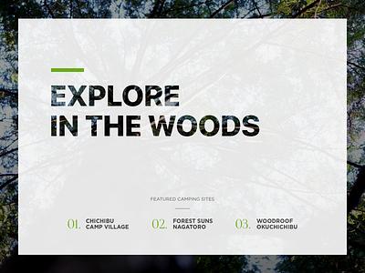 Let's Go Camping! framerjs framer life forest camping ui ux
