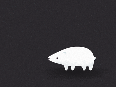 Polar bear invites illustration cute bear polar
