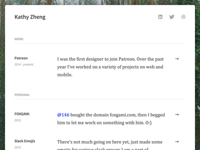 Portfolio site :3 ui print simple flat portfolio site