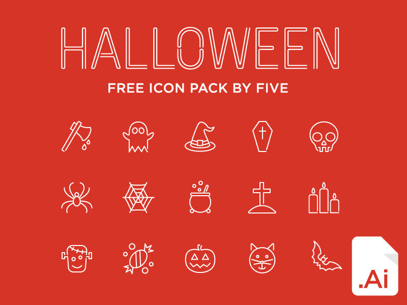 Halloween FREE icon pack by FIVE icon pack icon pack free icon pack free halloween ai vector five five.agency