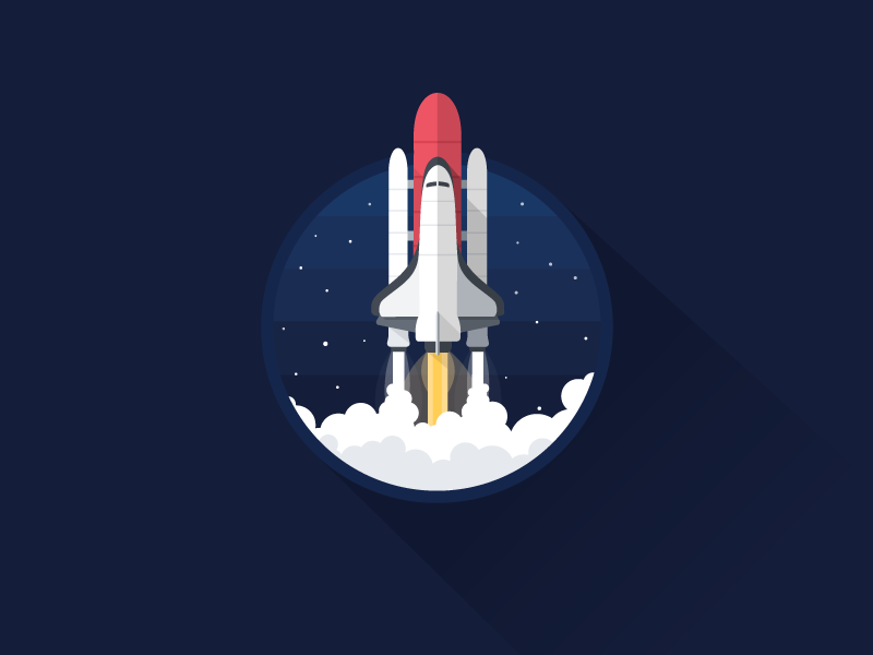 Rocket icon a day icon illustration rocket rocket launch space shuttle space cosmos stars explore star trek