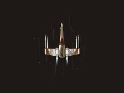 X-Wing icon a day illustration flat star wars wars stars cosmos space flight darth wader yoda luc