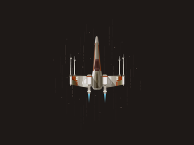 X-Wing icon a day illustration flat star wars wars stars cosmos space flight darth wader yoda luc