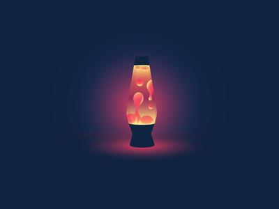 Lava Lamp icon-a-day icon design illustration lava lamp lava lamp light dark glow warm