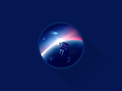Void in the space icon-a-day illustration void space cosmos earth ship star trek warp planet galaxy aurora