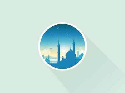 Arabian nights icon-a-day icon icons sunset stars islam mosques alah bible christ lake sea