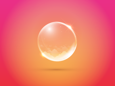 Bubble air light dream sky pink clouds soup bubble icon icon-a-day
