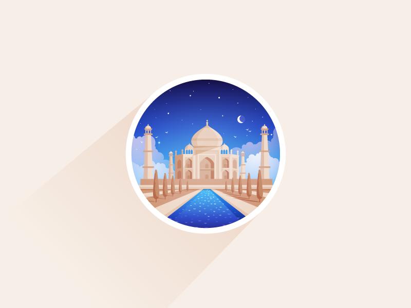 Taj Mahal asia taj mahal jahan agra marble arabic persia mughal tomb india icon-a-day