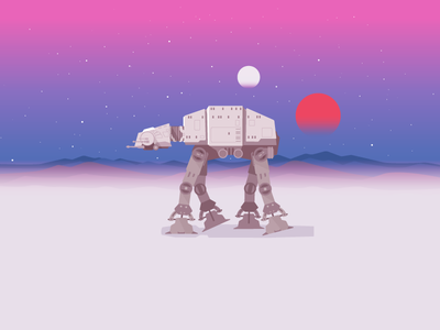 Imperial At At yoda darthwader starwars force attack tatooine walk desert at-at imperial icons icon-a-day