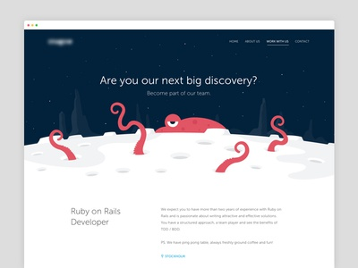 Are you our next big discovery? madebymarko explore planet discovery web mission developers monster stars aliens rocket space
