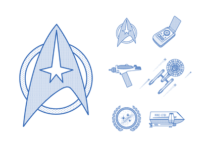 Star Trek Icon Pack federation tvshow space universe galaxy enterprise picard borg voyager trek stars startrek