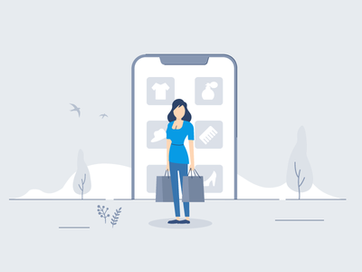 Set of illustrations for eCommerce Survey App