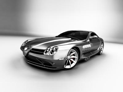 SLR monochrome rendidcom rendid render toropynin design visualization car 3d