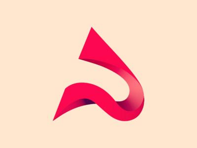Letter A logo design branding rendid