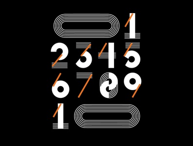 numbers graphicdesign type geometric figure numbers
