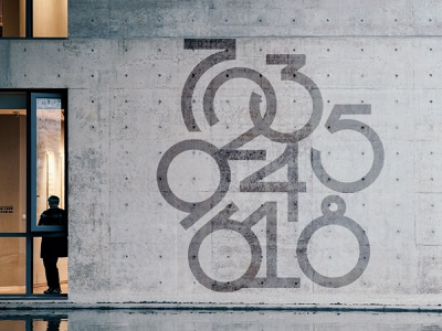numbers layout composition mural typography numbers
