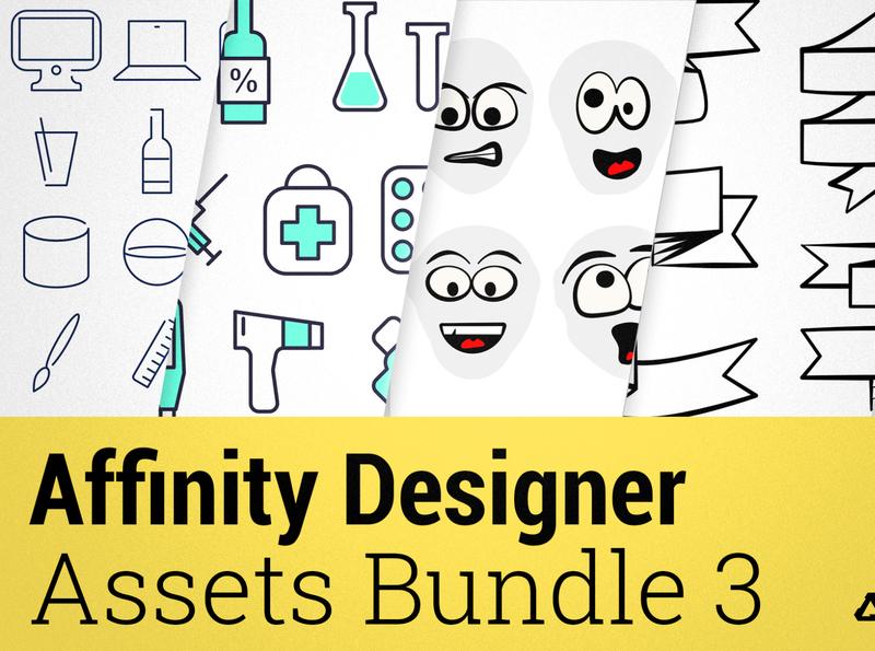 Affinity Designer Assets Pack vol. 3 creativemarket bundle set vector design temple assets vectors illustration icon