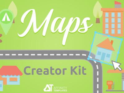 Illustrated Map Maker Affinity Designer Asssets vectors creative market assets affinity designer map illustration