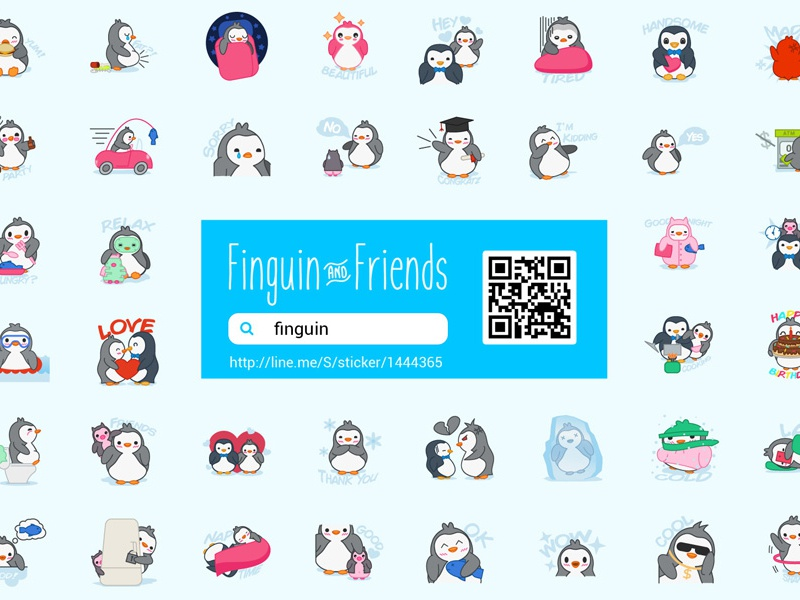 Cute Penguin Chat App Stickers character cartoon cheerful emoticon sign smile set icon emotion face facial happy