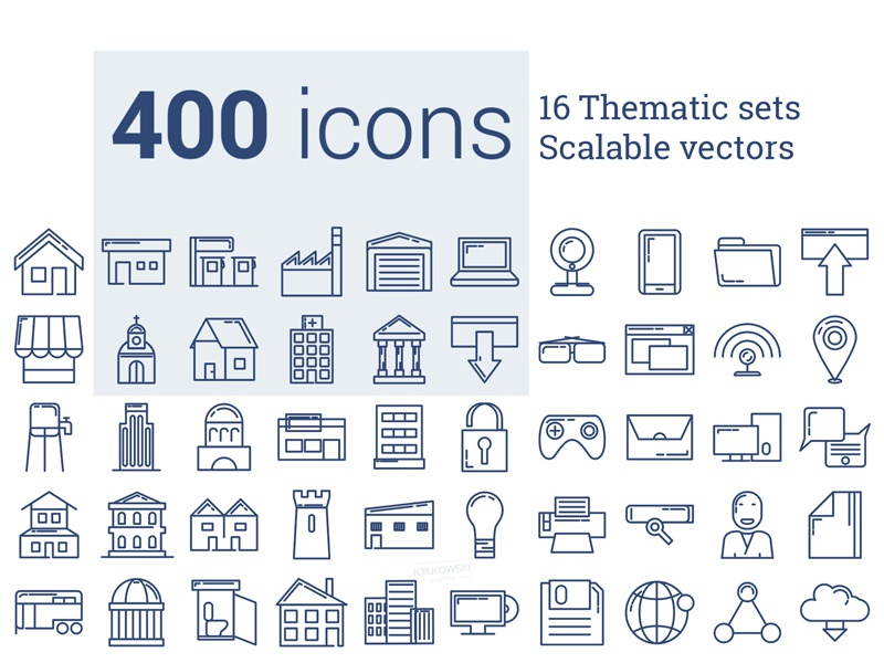 400 Icon Pack vector deal bundle set icons gui interface ux ui app web icon