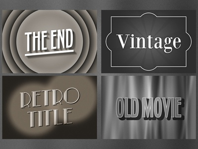 Old Movie Text Effect for Photoshop