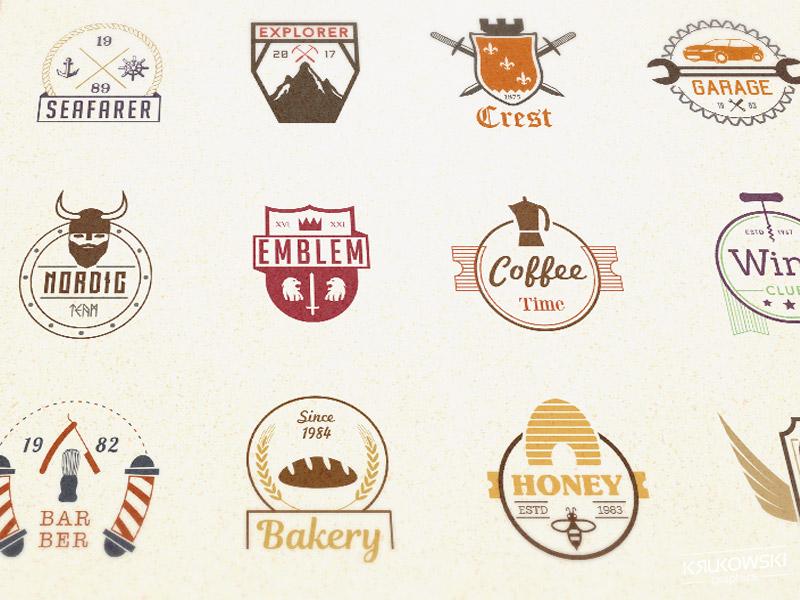 Badges Pack creativemarket bundle set vector sign symbol vintage logo badge