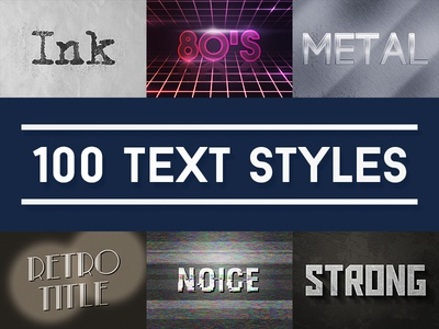 100 Text Effects for Photoshop