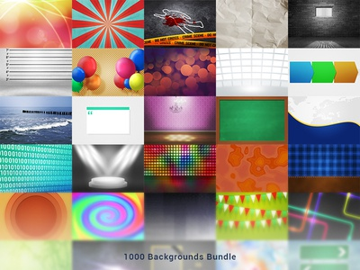 1000 Digital Backgrounds Pack
