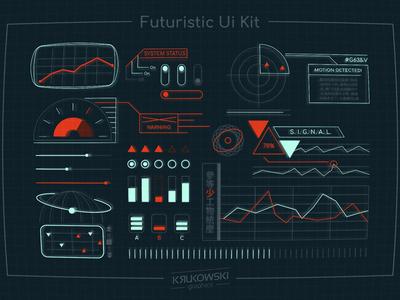 Futuristic Ui Kit Space HUD