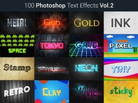 100 Photoshop Text Effects Vol.2