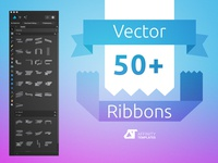 Ribbons Banners Vector Set
