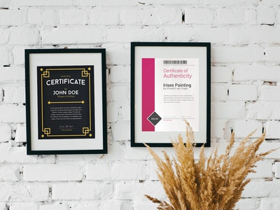 Certificates Pack for Photoshop