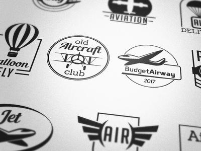 Aviation Badges Vectors
