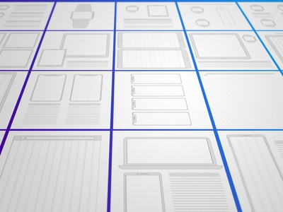 Sketching Sheets for Paper Wireframes