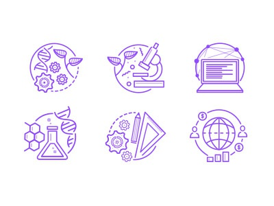 Science icon set set icon biology mathematics science life computer engeneering chemistry