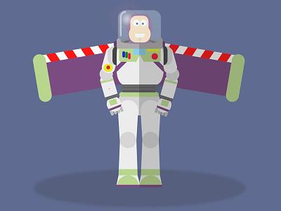Buzz Lightyear design flat story toy lightyear buzz