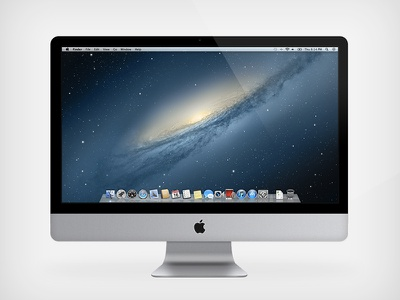 "iMac 21.5"" Vector imac 21.5 vector photoshop inch apple mac desktop computer shapes osx aluminium perfect beautiful glossy mountain lion"