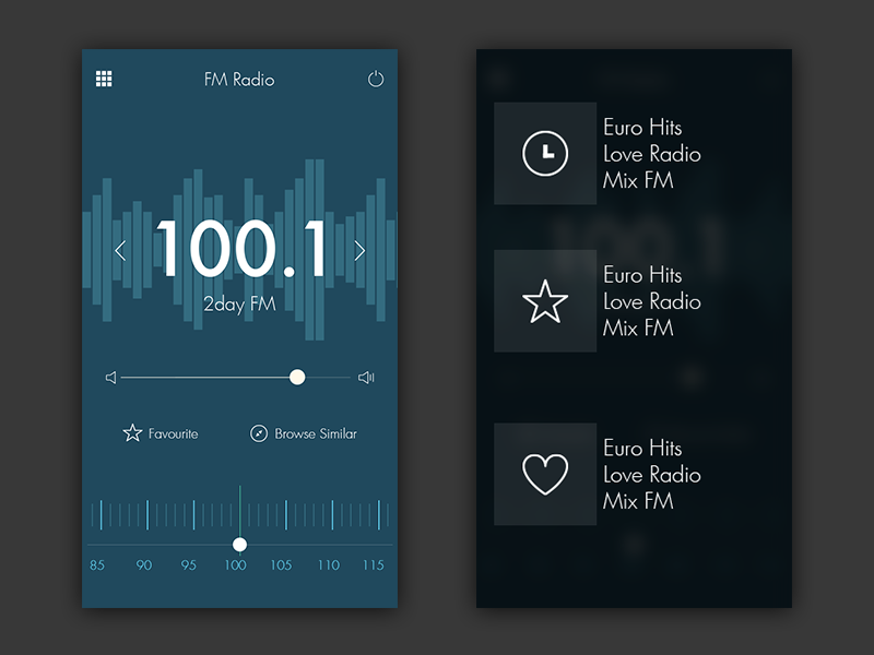 radio apps for iphone radio app ui by luke zammit dribbble 3338