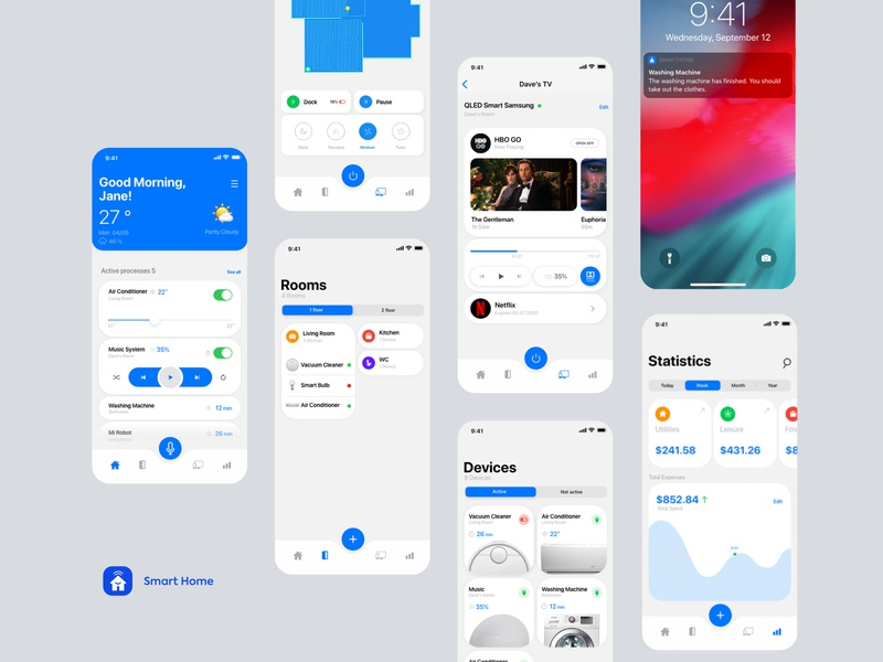 Smart  Home interface user experience application smarthome ios design app product design ux ui