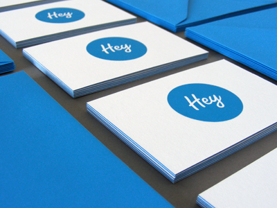 Hey Mailers hey.im hey business cards mailer envelopes blue printed print edge spoonlover gangnam style luxe 600gsm photo simplicity stuff cards design background moo graphic envelope work simple web hello card minimalistic
