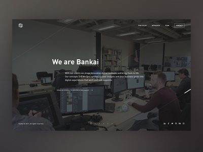 New Bankai website is up and running user interface design user experience cases portfolio agency branding dark ui ux webdesign website