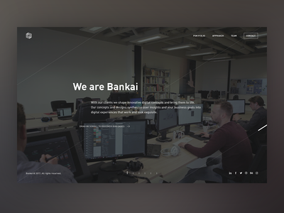 New Bankai website is up and running user interface design user experience cases portfolio agency branding dark ui ux webdesign website