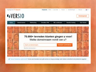 A complete design overhaul of versio.nl ux design ui design concept optimization hosting platform webdesign design redesign website