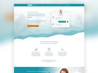 Landingpage design for chat service service chat ui design landingspage