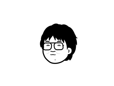 腼腆的毛老师 avatar character graphic design vector minimalism minimal simple black and white black  white 毛不易 vector art vector illustration illustration affinity designer