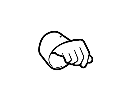 Hand vector vector illustration vector art graphic design affinity designer illustration simple design blackandwhite line art line minimalism minimal simple hand