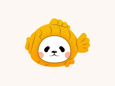 Planet Bear from Weibo china japan avatar vector art vector illustration graphic design affinity designer illustration panda bear bear panda たい焼き 鯛魚燒