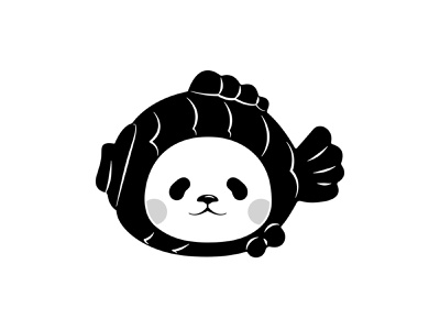 Planet Bear BLK character design vector art avatar graphic design character black  white panda vector illustration vector illustration affinity designer
