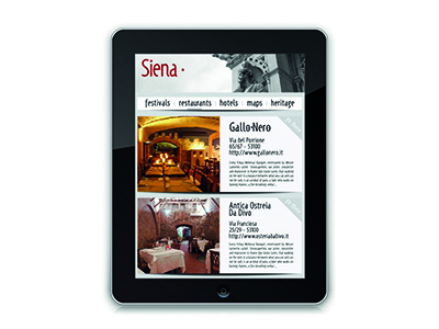 Tourist iPad app for Siena siena tourist app ipad