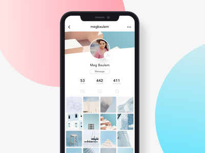 Instagram redesign design minimalism branding color application photos feed instagram mobile ux ui